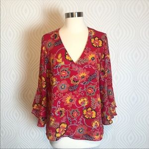 Mercer & Madison Blouse with Bell Sleeve